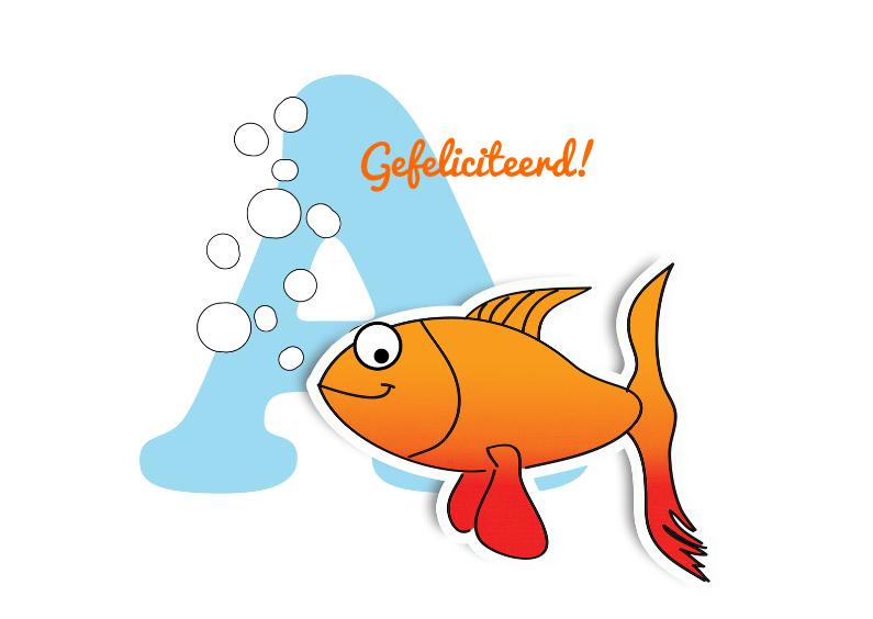Geslaagd kaarten - Geslaagd Kaart Bubble Fish
