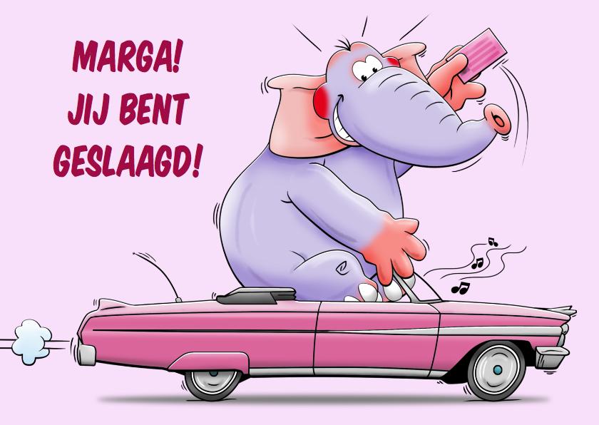Geslaagd kaarten - Geslaagd kaart voor iemand die haar rijbewijs heeft gehaald