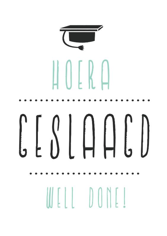 Geslaagd kaarten - Geslaagd letters Zeefdruk Zweeds