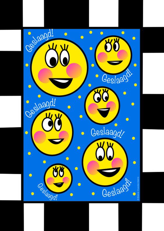 Geslaagd kaarten - Geslaagd Smilies