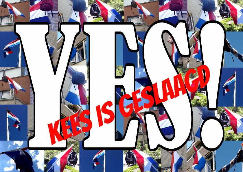 Geslaagd kaarten - Geslaagd Yes Vlaggen - AW