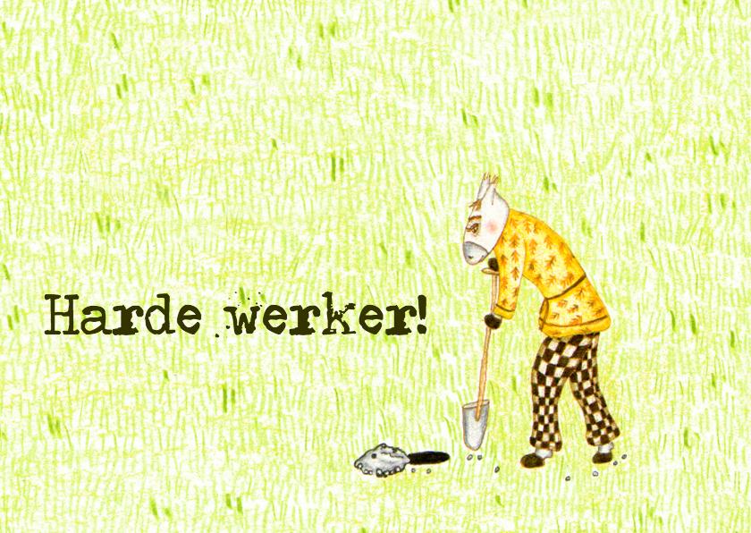 Geslaagd kaarten - Harde werker2