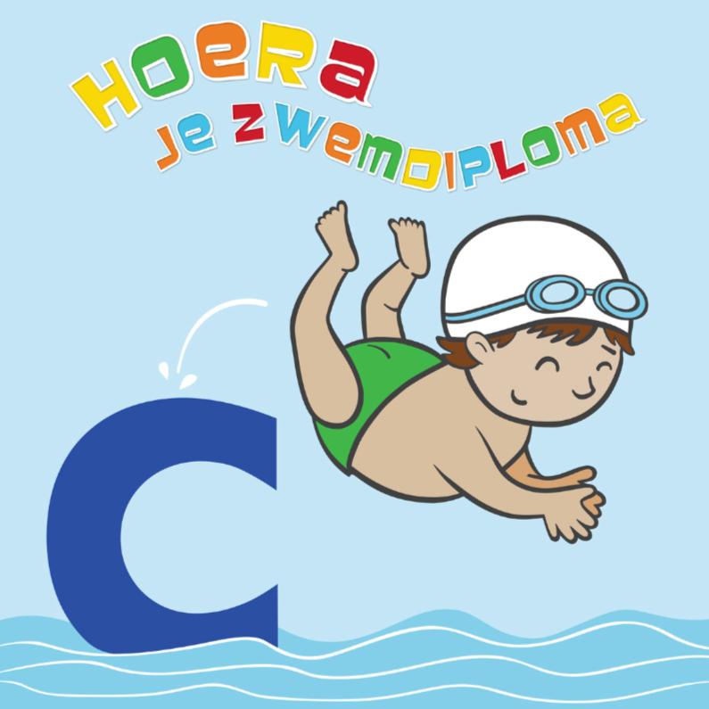 Geslaagd kaarten - Hoera! je zwemdiploma C