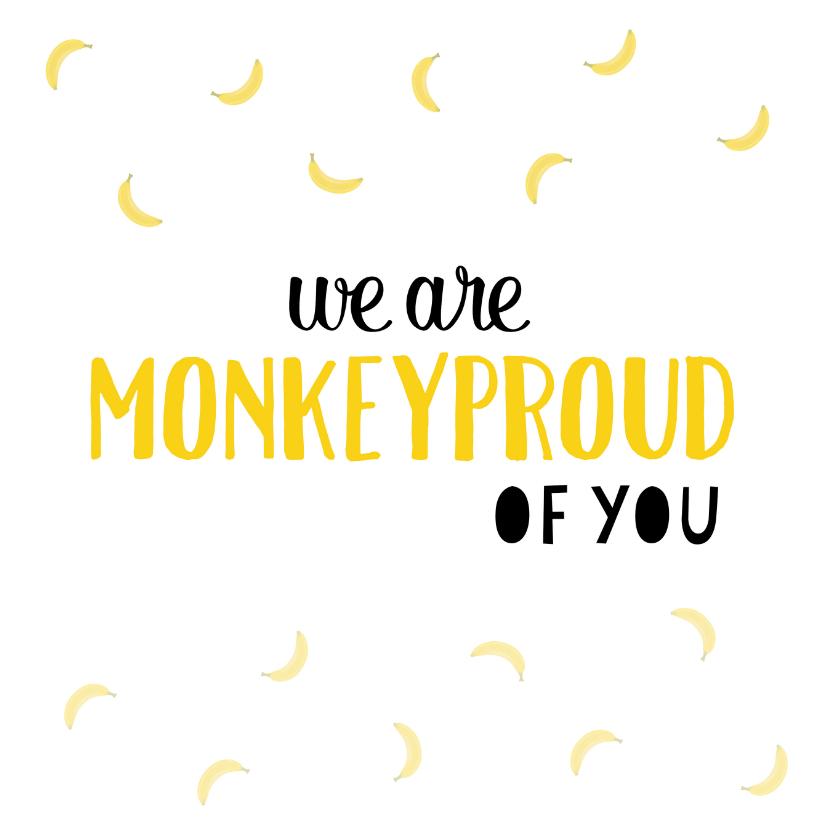 Geslaagd kaarten - Monkeyproud of you