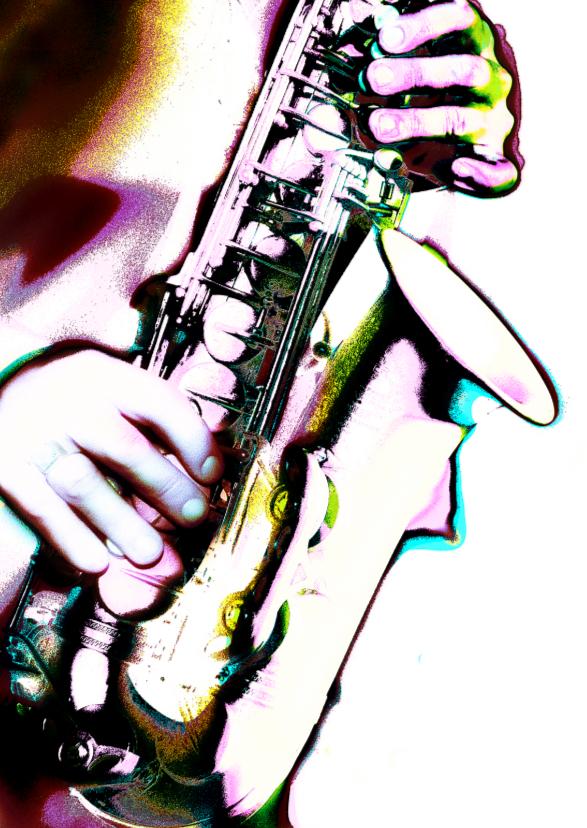 Geslaagd kaarten - saxofoon 5