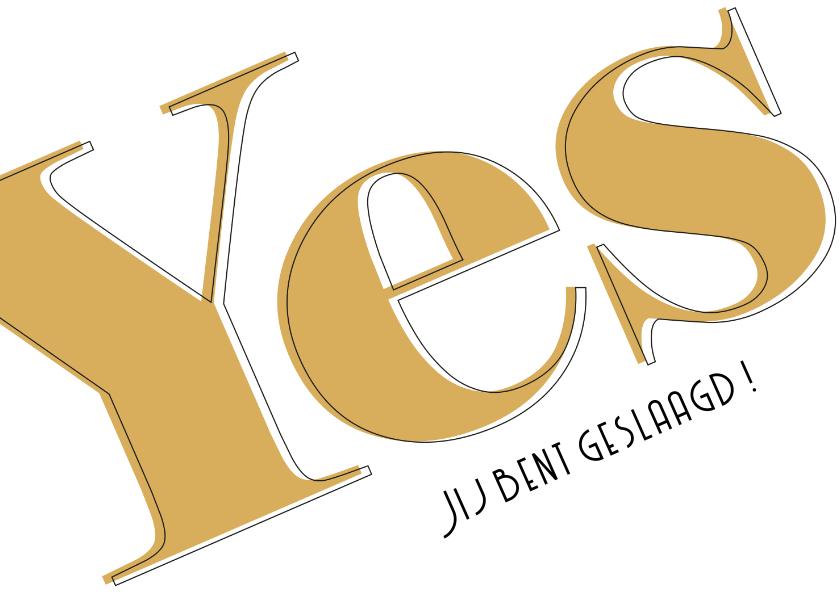 Geslaagd kaarten - Yes geslaagd ELD