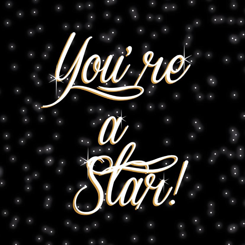 Geslaagd kaarten - you are a star- geslaagd-succes-