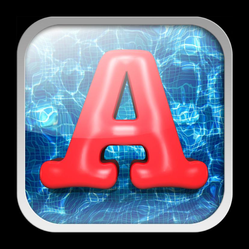 Geslaagd kaarten - Zwemdiploma A - als app-kaartje