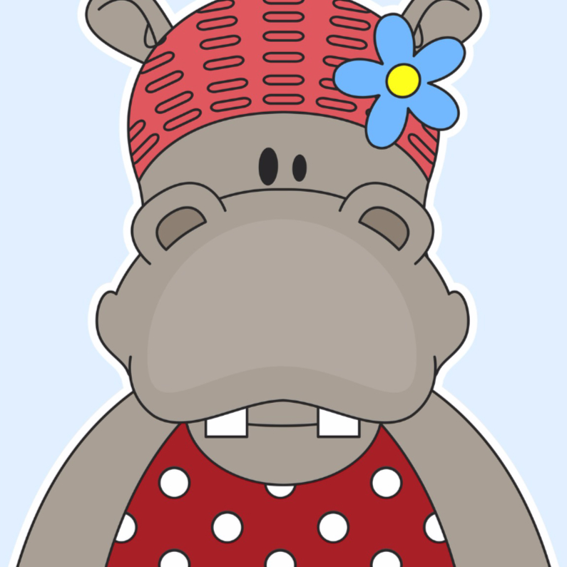 Geslaagd kaarten - Zwemles Nijlpaard!