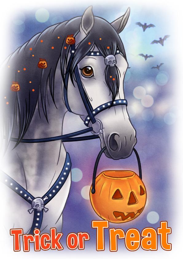 Halloween kaarten - Chiwowy Halloween paard
