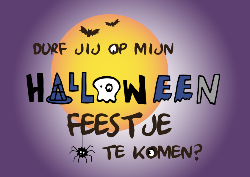 Halloween kaarten - Halloween feestje-IR