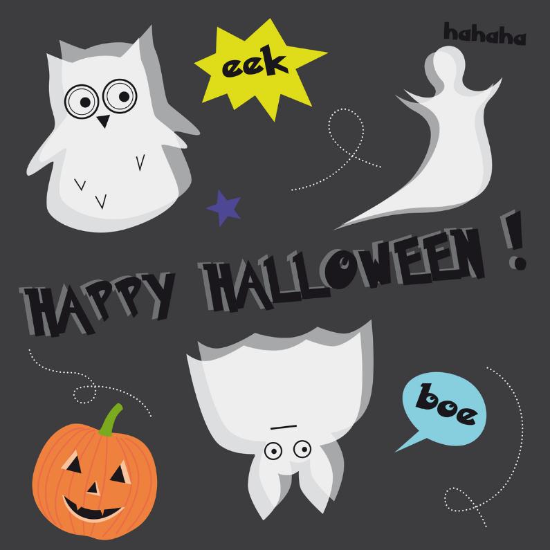 Halloween kaarten - Halloween-Happy Spooky-HK