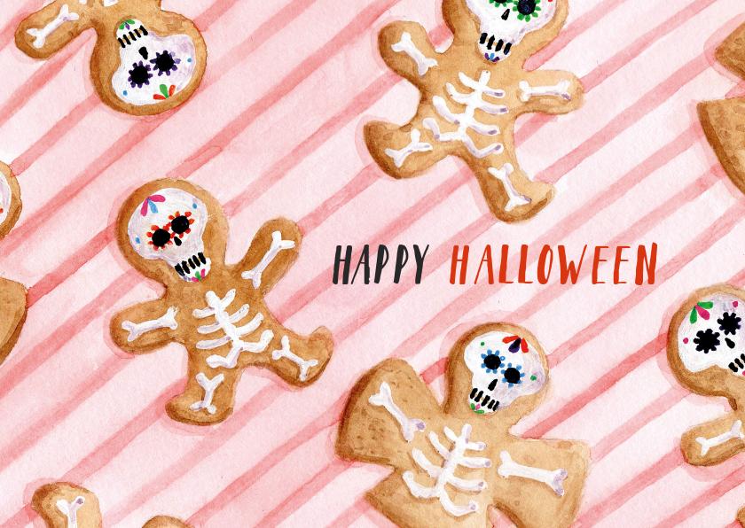 Halloween kaarten - Happy Halloween Cookies