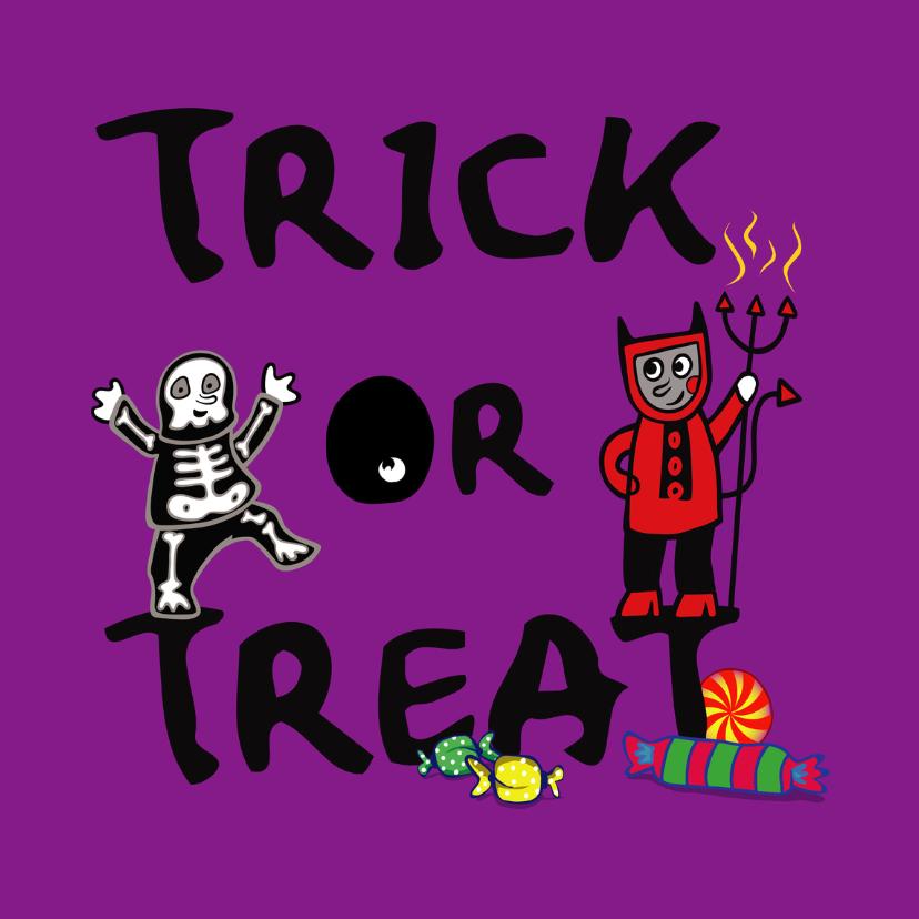 Halloween kaarten - Trick or treat ! Halloween-IR