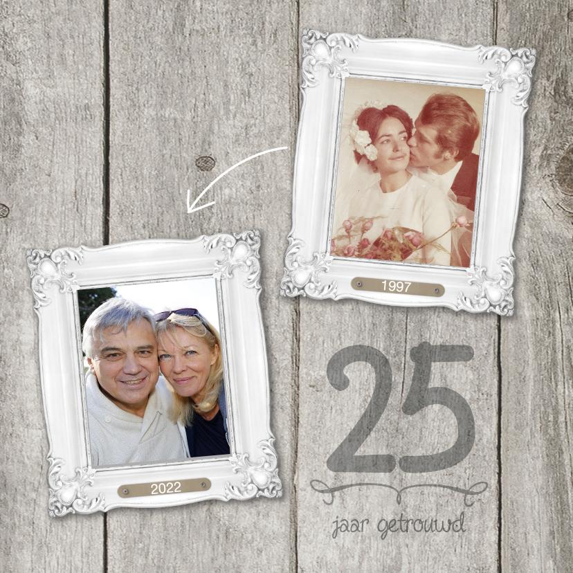 Jubileumkaarten - 25-jaar-huwelijk-fotolijstjes
