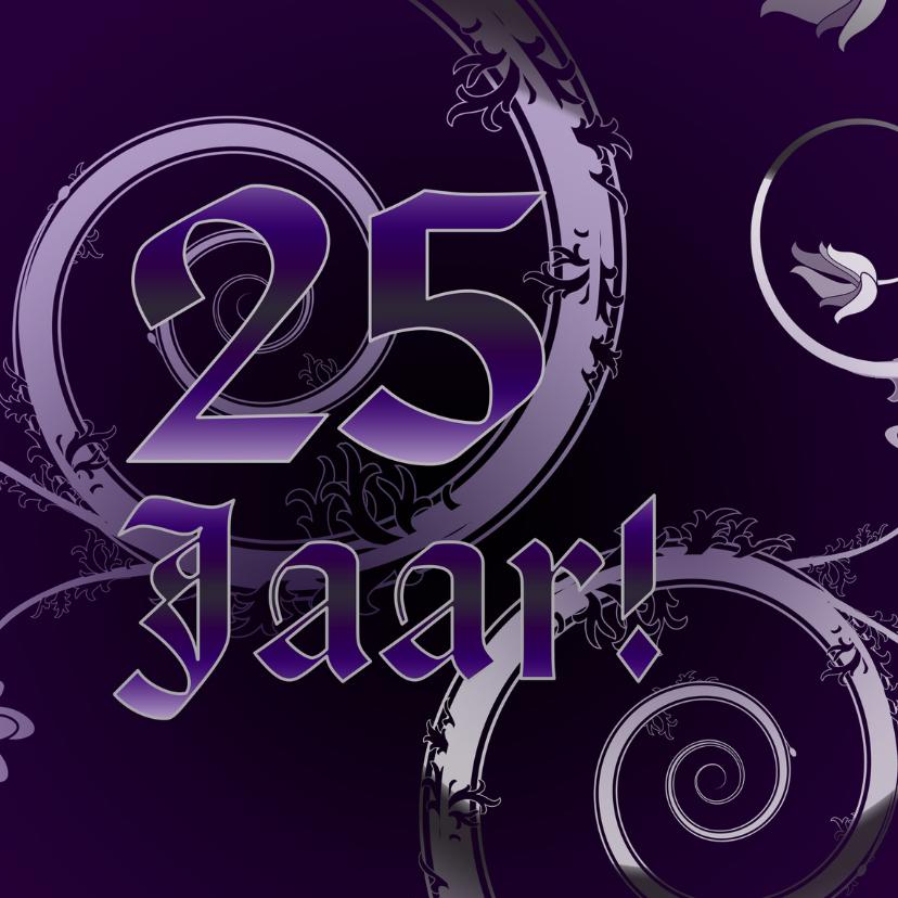 Jubileumkaarten - 25 jaar paars klassiek RB