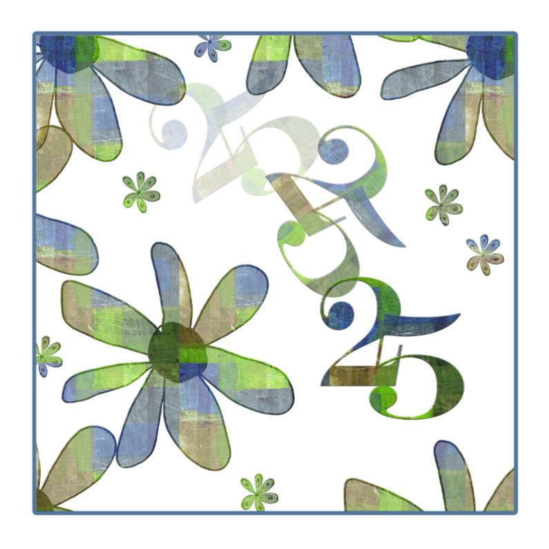 Jubileumkaarten - 25 jarig jubileum met bloemen