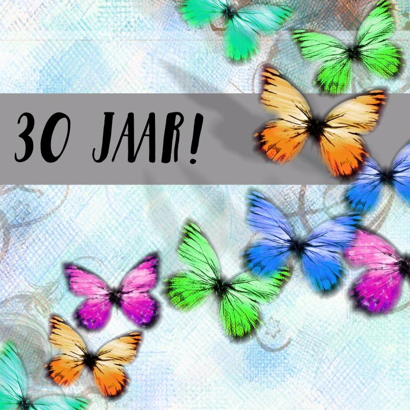 Jubileumkaarten - 30 jaar vlinder