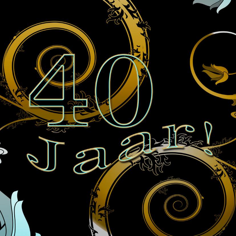 Jubileumkaarten - 40 jaar charme RB