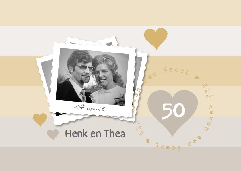 Jubileumkaarten - 50 jaar getrouwd eigen foto en stempel