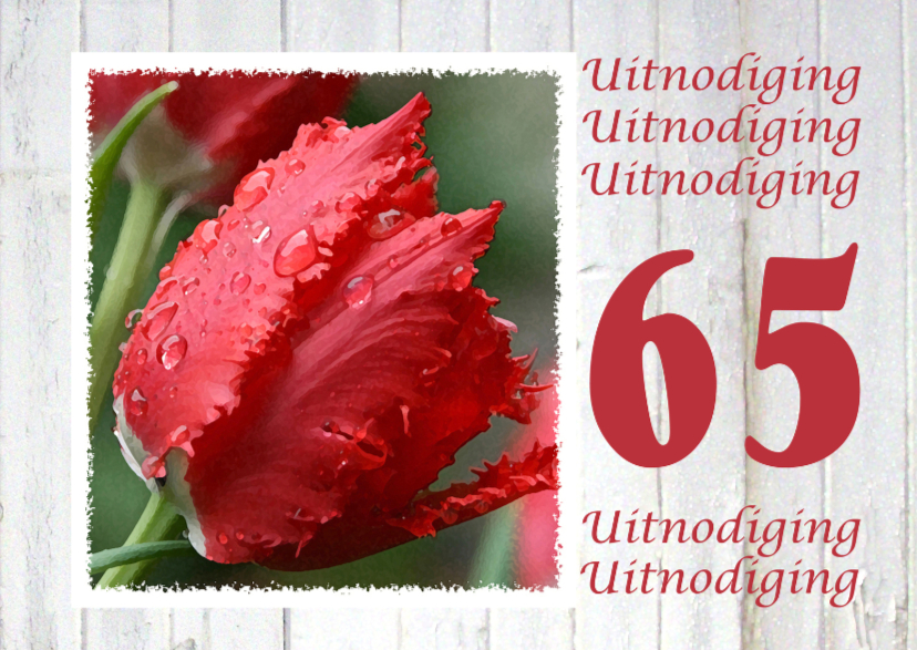 Jubileumkaarten - 65 Jubileum Tulpen