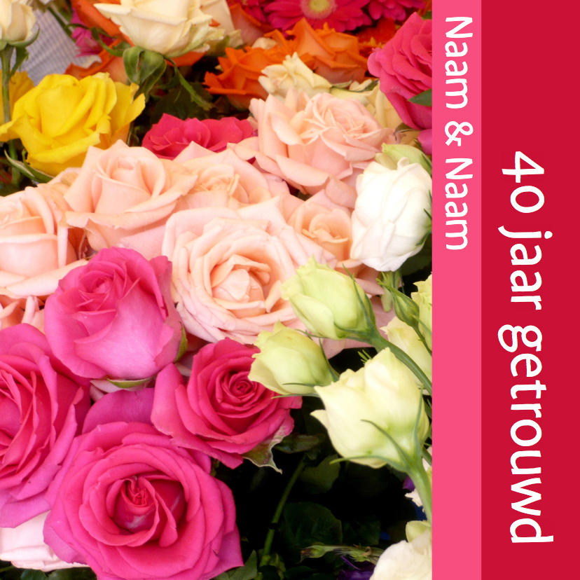 Jubileumkaarten - Bloemen Uitnodiging