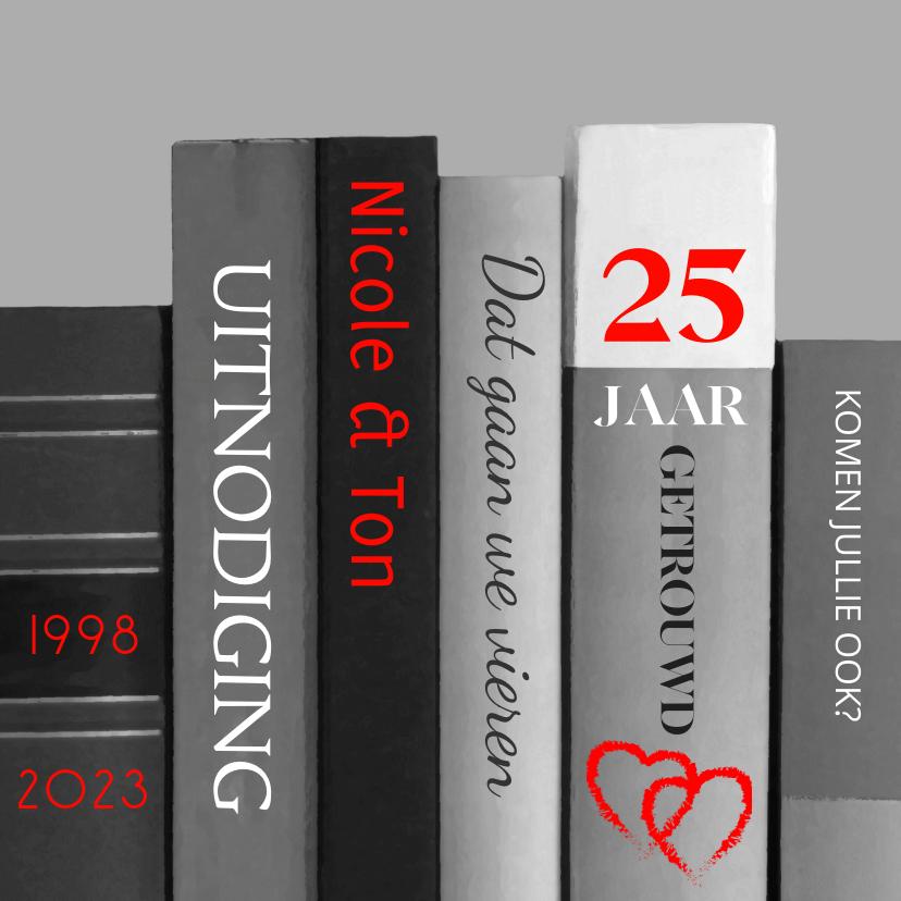 Uitnodigingen - boeken 25 jaar getrouwd