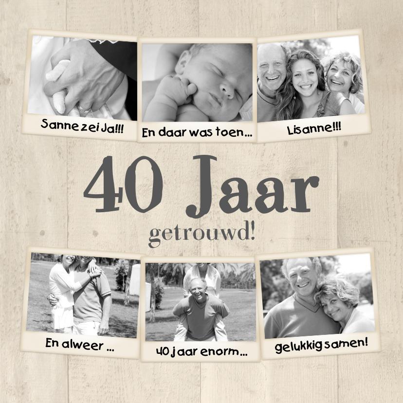 Jubileumkaarten - Collage 40 jaar 7 foto's - BK