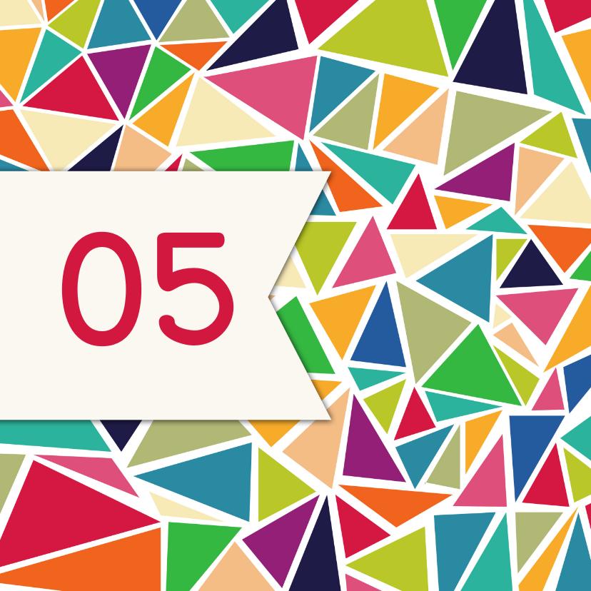 Jubileumkaarten - Driehoek jubileum 5 jaar - DH
