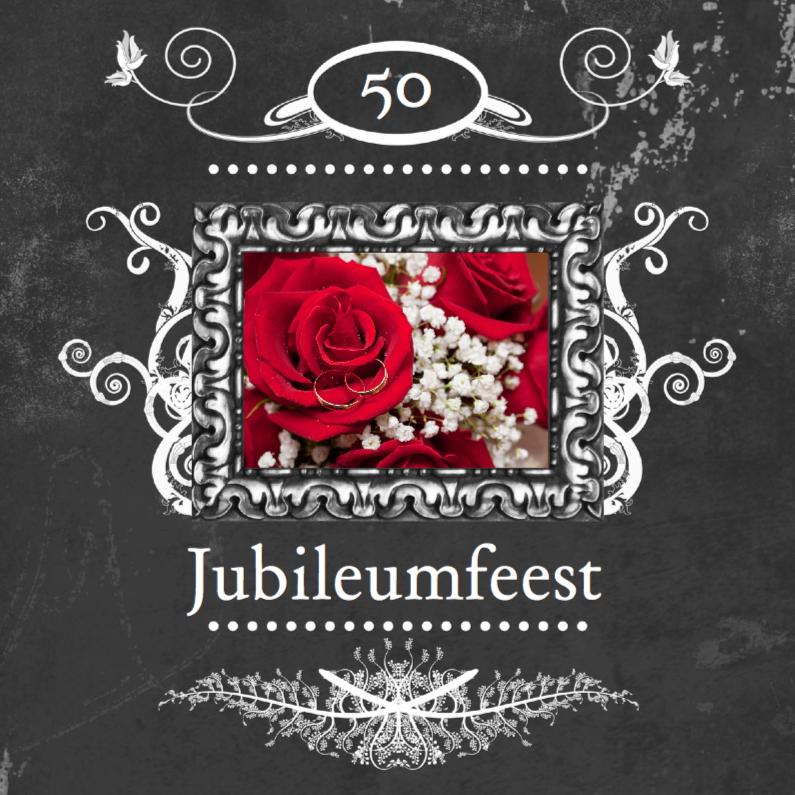 Jubileumkaarten - feest jubileum klassiek lijst a