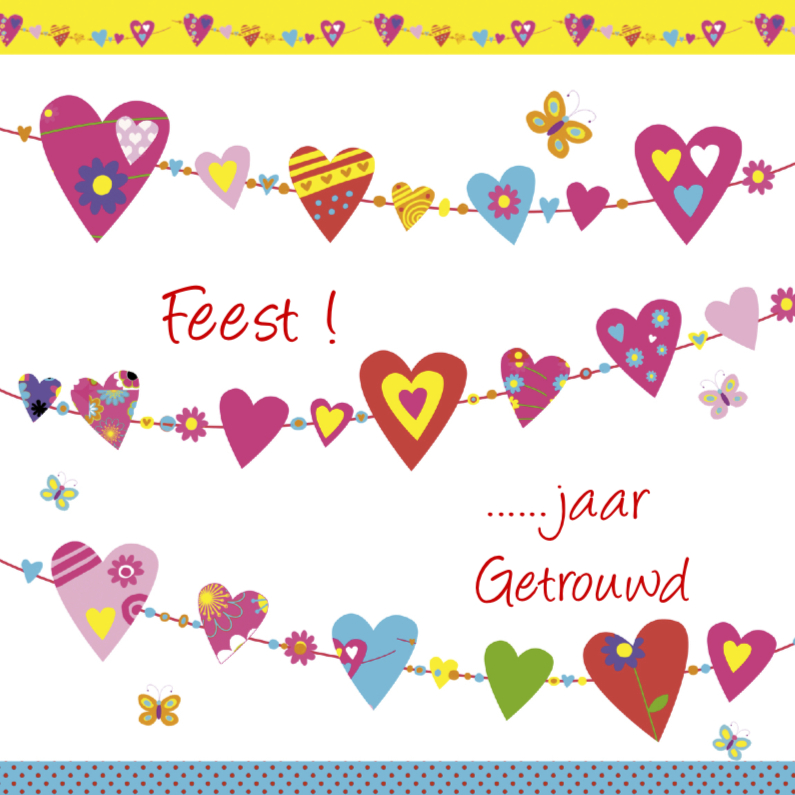 Jubileumkaarten - Feest voor Jubileum harten