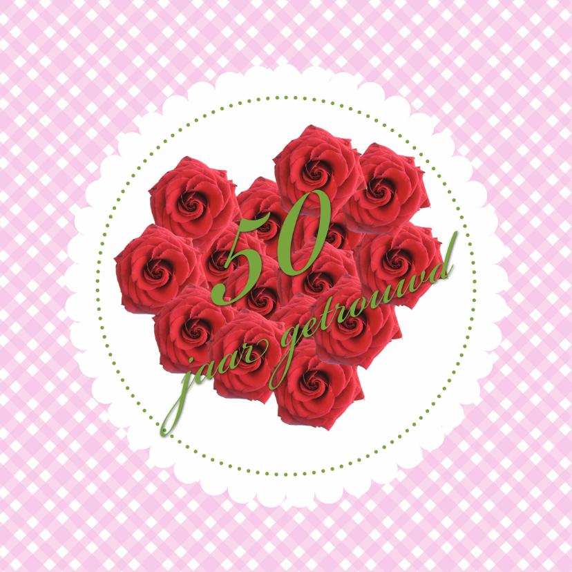 Jubileumkaarten - hearts 50 jaar getrouwd