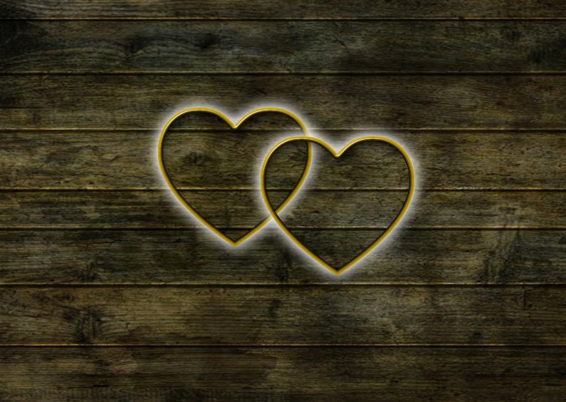 Jubileumkaarten - Hout en harten zelf invullen