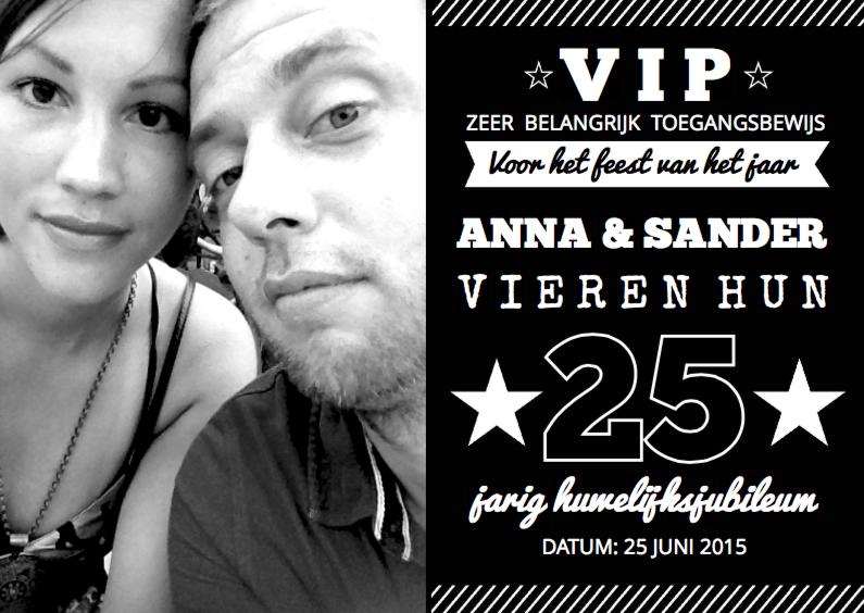 Jubileumkaarten - Huwelijksjubileum Black&White