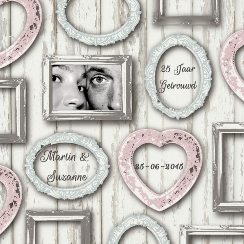Jubileumkaarten - Huwelijksjubileum Fotolijstjes