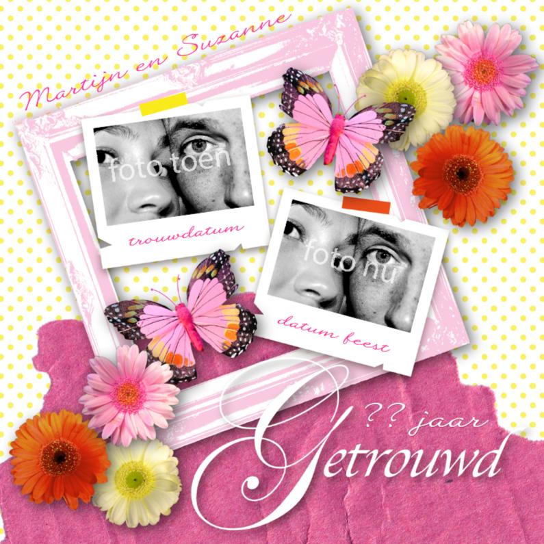Jubileumkaarten - Huwelijksjubileum Happy Colours