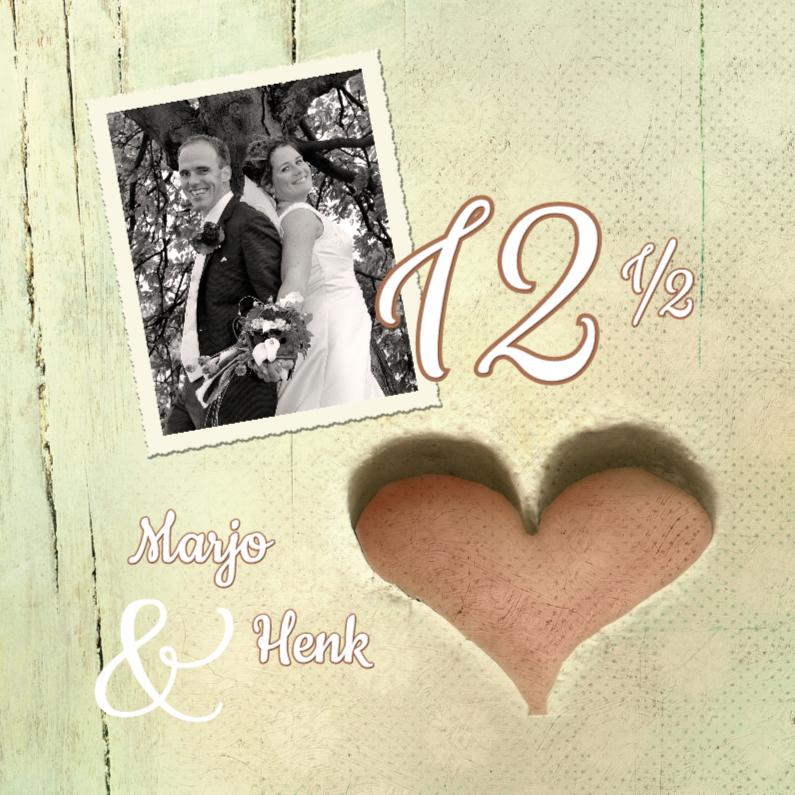 Jubileumkaarten - Huwelijksjubileum hart 12,5 jaar
