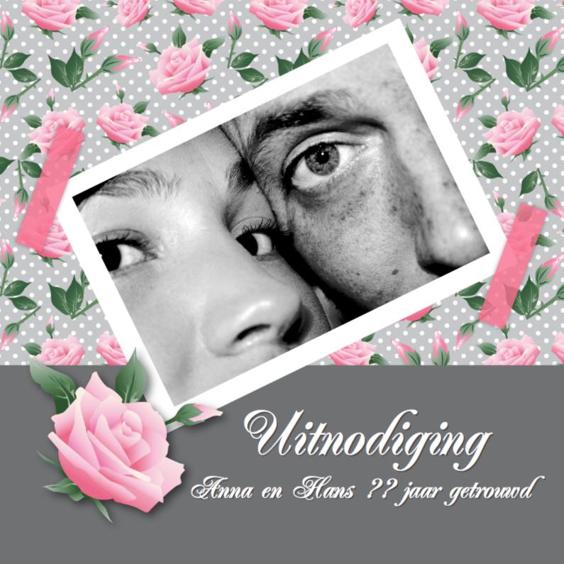 Jubileumkaarten - Huwelijksjubileum Lovely Roses