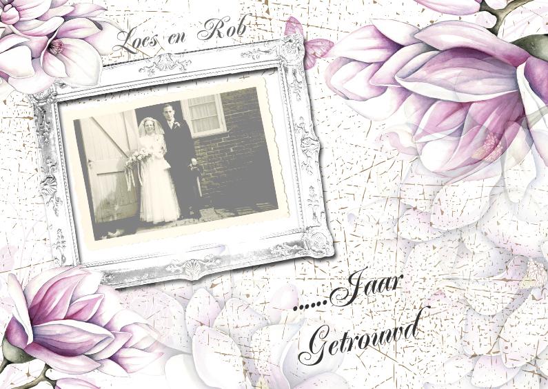 Jubileumkaarten - huwelijksjubileum met tulpenboom