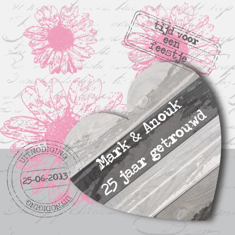 Jubileumkaarten - Huwelijksjubileum Pink Flowers