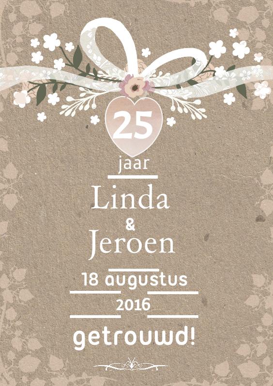 Jubileumkaarten - Huwelijksjubileum romance lint