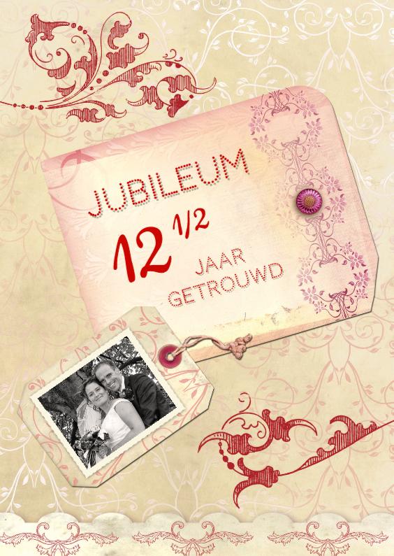 Jubileumkaarten - Huwelijksjubileum scrapbook 12,5