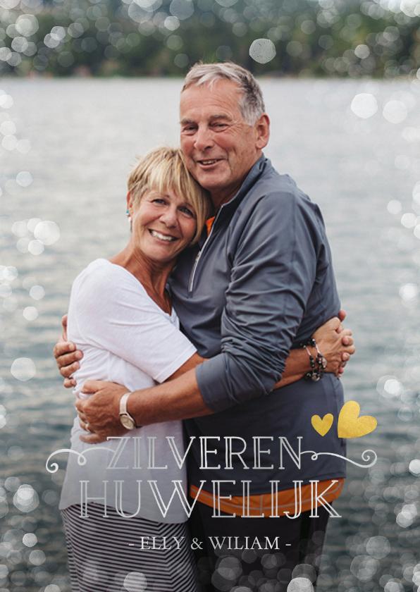 Jubileumkaarten - Huwelijksjubileum uitnodiging zilveren huwelijk 25 jaar