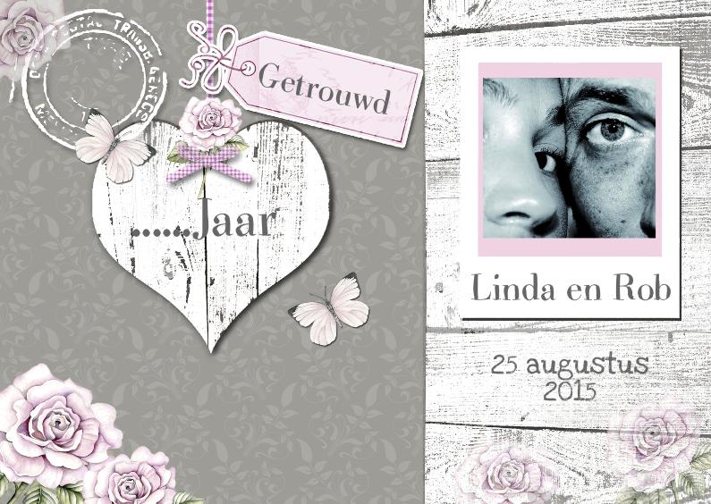 Jubileumkaarten - huwelijksjubileum uitnodiging