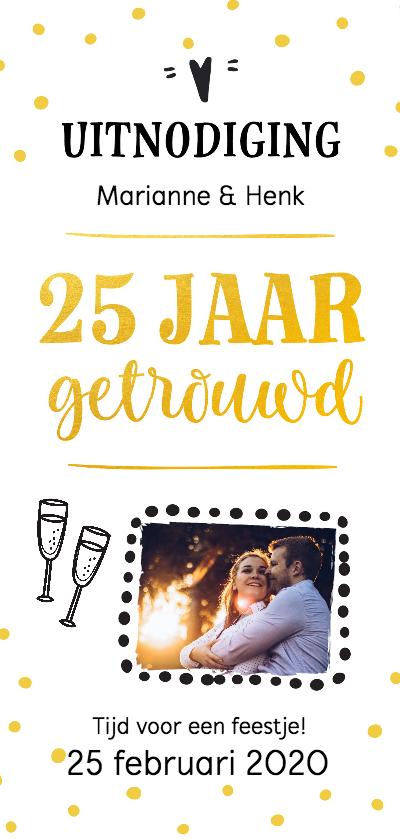 Jubileumkaarten - Jubileum - 25 jaar getrouwd langwerpig