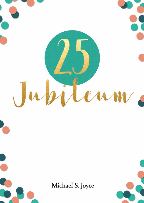 Jubileumkaarten - Jubileum 25 jaar met confetti - BK