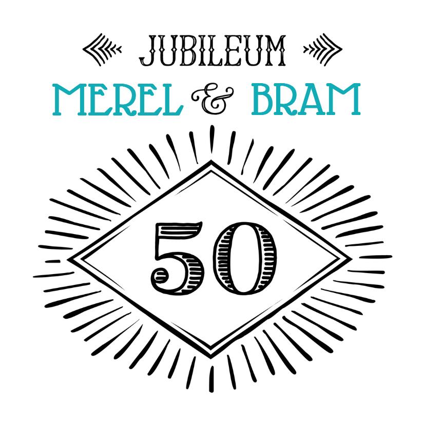 Jubileumkaarten - Jubileum 50 handlettering OT