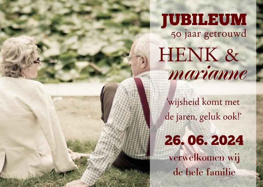 Jubileumkaarten - Jubileum fotokaart