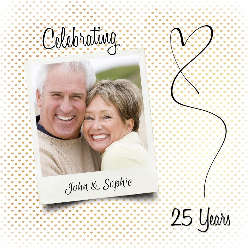 Jubileumkaarten - Jubileum huwelijk hartjes - SG