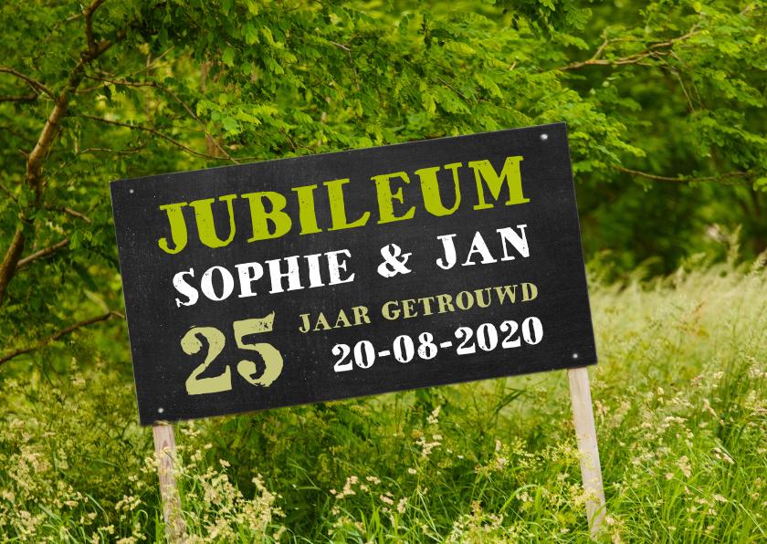 Jubileumkaarten - Jubileum krijtbord natuur - OT